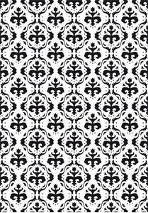 Embossingfolder med Barok mønster fra Nellie's Choise - VINF001