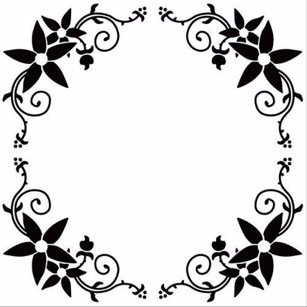 Rund blomster bort Embossingfolder fra Nellie Snellen - EFE010