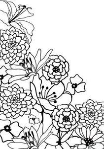 Hjørne blomster Embossingfolder fra Hobby Solution - HSF003