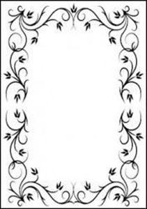 Rektangel ramme Embossingfolder fra Hobby Solution - HSF005