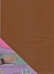 Imiteret læder fra Nellie Snellen - Brun