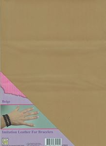 Imiteret læder fra Nellie Snellen - Beige ILFB003