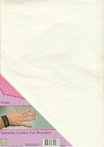 Imiteret læder fra Nellie Snellen - Hvid  ILFB004