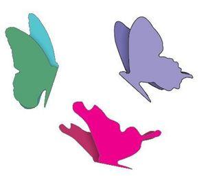 Sommerfugle - Small Angel Wings - dies fra Cherry Lynn Design - DL112A