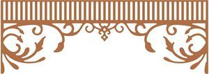 Sydstats Snedkerglæde - Southern Charm Valance - dies fra Cherry Lynn Design - B454