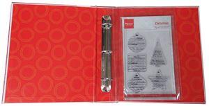Ringbind med 3 ringe og 12 lommer til opbevaring af stempler og dies fra MarianneDesign - Lr0003