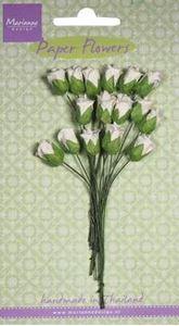 Hvide blomster knopper fra Marianne Design - RB2238