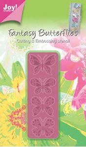 Fantasi sommerfugle - 4 stk - dies fra Joy Crafts - 6002/0245