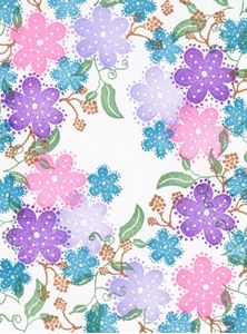 Peg stempler - Eyelet Blooms - SFL34100