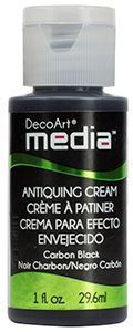 DecoArt Media Antiquing Cream - Carbon Black - DMM150
