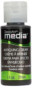 Antiquing Cream fra DecoArt - Raw Umber - DMM151