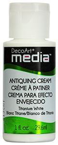 DecoArt Media Antiquing Cream - Titanium White - DMM153
