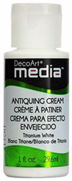 DecoArt Media Antiquing Cream - Titanium White - DMM153
