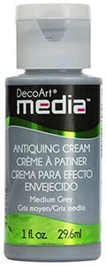 DecoArt Media Antiquing Cream - Medium Grey - DMM155