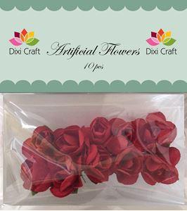 Blod røde roser af papir fra Dixi Craft
