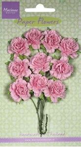 Rosa nelliker - papirblomster fra Marianne Design - RB2257