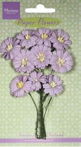 Lys Lavendel Margueritter - papirblomster fra Marianne Design - RB2254
