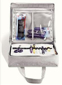 Prym taske til opbevaring af håndarbejde, strik, patchwork og scrapbooking - Lysegrå