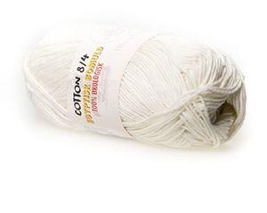 100% økologisk egyptisk bomuldsgarn 8/4 fra Mayflower til lækkert sommer strik, væv og hækling - Hvid