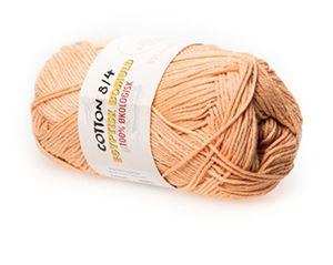 100% økologisk egyptisk bomuldsgarn 8/4 fra Mayflower til lækkert sommer strik, væv og hækling - Laks