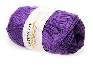 100% økologisk egyptisk bomuldsgarn 8/4 fra Mayflower til lækkert sommer strik, væv og hækling - Violet