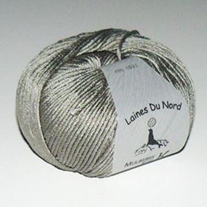 Mulberry Silk, 100% mårbærsilke strikkegarn fra Laines Du Nord - 468 Gråbrun