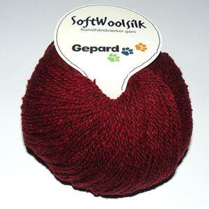 SoftWoolSilk, strikkegarn fra Gepard Garn - Vinrød 466