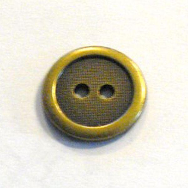 Antik messingfarvet Ringknap - 17,5 mm