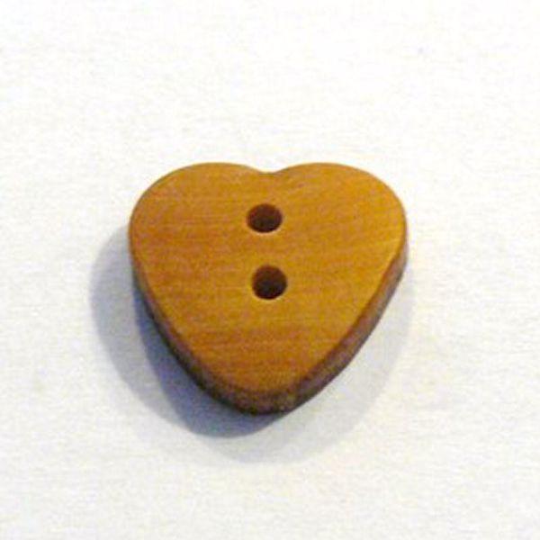 Hjerte træknap - 15 mm