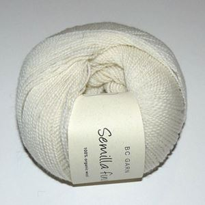Lækkert blød økologisk uldgarn fra BC Garn - Semilla Fino - Natur Hvid ox01