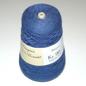 310 gram blød bomuld, kamgarn til håndstrik, maskinstrik eller vævning - Blå