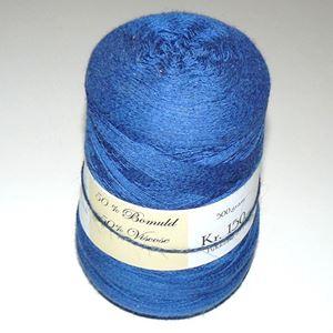 500 gram blød bomuld/viscose, kamgarn til håndstrik, maskinstrik eller vævning - Blå