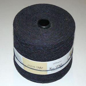 1.270 gram nistret uld til håndstrik, maskinstrik eller vævning - Mørkeblå