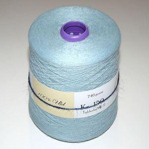 740 gram Fin bomuld til håndstrik, maskinstrik eller vævning - Lyseblå