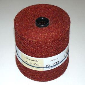 960 gram Nistret Uld til håndstrik, maskinstrik eller vævning - Kobber rød