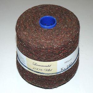 700 gram Nistret Uld til håndstrik, maskinstrik eller vævning - Brun