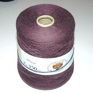 770 gram LammeUld til håndstrik, maskinstrik og vævning - Blomme