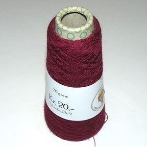 70 gram Uld til håndstrik, maskinstrik og vævning - Vinrød
