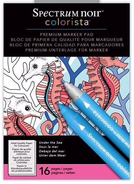 Spectrum Noir Colorista Premium Marker Pad, Under the Sea  fra Crafters Companion - Under havet, malebog