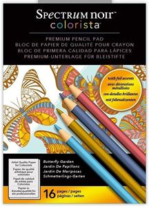 Spectrum Noir Colorista Premium Pencil Pad, Butterfly Garden fra Crafters Companion - Sommerfugle have, malebog