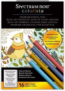 Spectrum Noir Colorista Premium Pencil Pad, Natural Beauty fra Crafters Companion - Naturlig skønhed, malebog