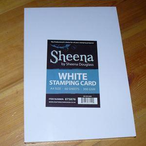 Sheena Douglass White Stamping Card - kvalitetspapir fra Crafters Companion