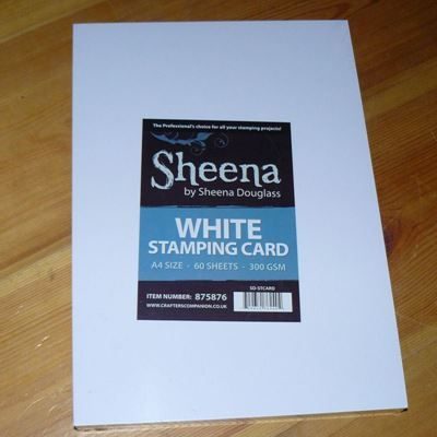 Sheena Douglass White Stamping Card - kvalitetspapir fra Crafters Companion