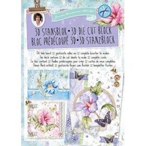 Sommerblomster og sommerfugle design papir pakning til scrapbooking og kort