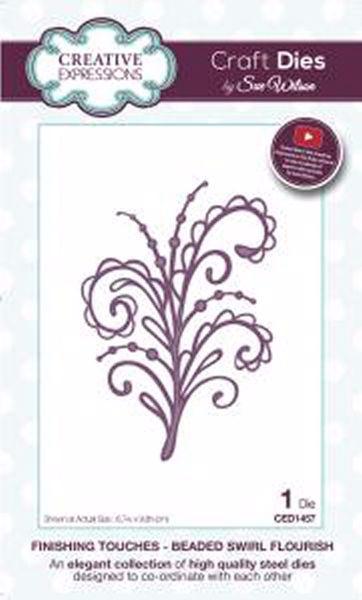 Finishing touches - beaded swirl flourish - CED1457 fra Creative Expression