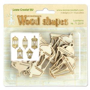 Dekorations lygter af træ fra Leane Creatief