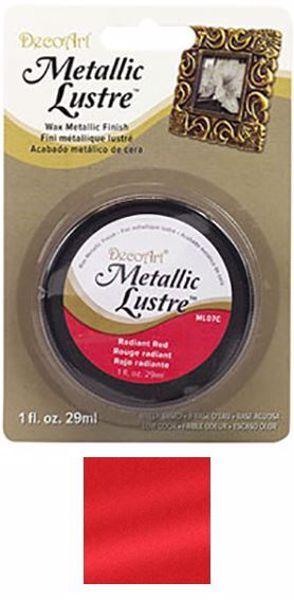 Metallic Lustre fra DecoArt til scrapbooking og kort - Radiant Red