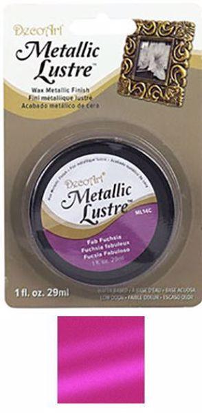 Metallic Lustre fra DecoArt til scrapbooking og kort - Fab Fuchsia