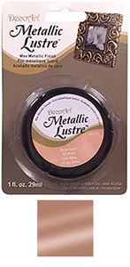 Metallic Lustre fra DecoArt til scrapbooking og kort - Rose Gold