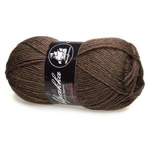 Mayfloer Alpakka 4-trådet strikkegarn - Mørkebrun 05